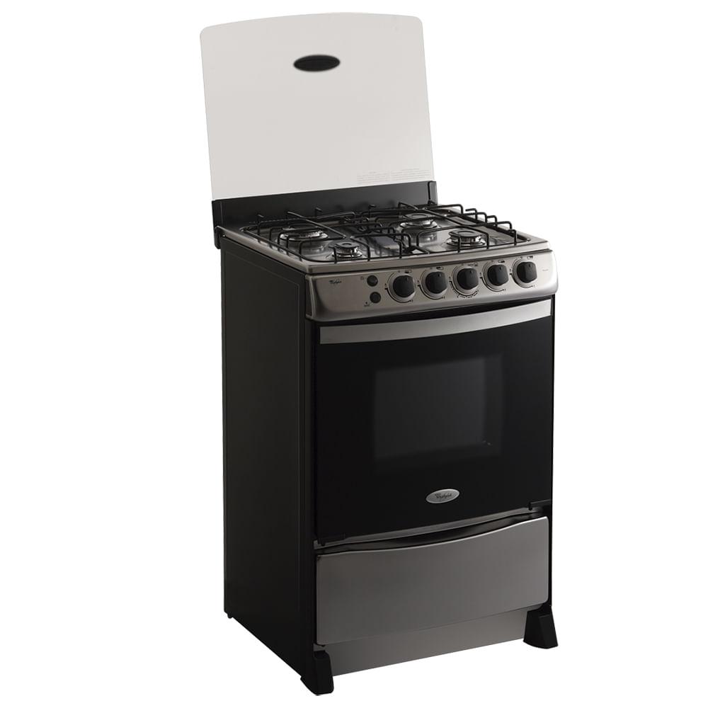 Estufa de piso a gas con 4 quemadores whirlpool for Cocinas electricas con horno